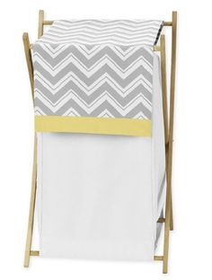Baby/Kids Clothes Laundry Hamper for Yellow and Gray Chevron Zig Zag Bedding by Sweet Jojo Designs by Sweet Jojo Designs, http://www.amazon.com/dp/B007TA49TM/ref=cm_sw_r_pi_dp_hjZrsb04P5N38