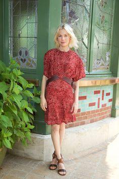 Michelle Williams in Louis Vuitton   - HarpersBAZAAR.com
