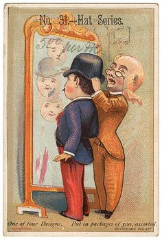 Hat Series, Victorian Trade Card