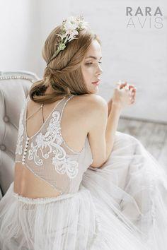 Hochzeitskleid Biti einfache Brautkleid von RaraAvisAngeEtoiles