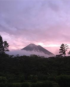 A beautiful way to begin a day. A cloudy #morning at Arenal Volcano National Park via @outdoor_suni! #CostaRica #vacations #CostaRicaExperts