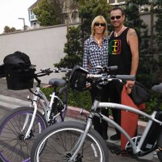 Motiv Electric Bikes -I believe this is the first matte gray documented in the wild....  Enjoy your bikes you two!