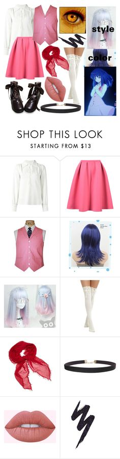 """Misao RPG Horror Game"" by dappershadow ❤ liked on Polyvore featuring See by Chloé, WithChic, Wigs2You, Hot Topic, Faliero Sarti, Humble Chic and Urban Decay"