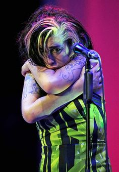 Amy Winehouse at what would be her last concert.