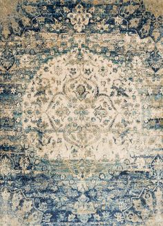 Loloi Rugs Anastasia 06BBIV Machine Made Polypropylene and Polyester Transitiona 3 x 12 Home Decor Rugs Rugs