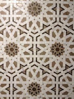 Walker Zanger / Granada tile - Pinned By Blueprint Geometric Patterns, Floor Patterns, Tile Patterns, Geometric Art, Textures Patterns, Islamic Art Pattern, Arabic Pattern, Motifs Islamiques, Islamic Tiles