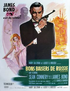 James Bond foreign movie poster from Russia With Love
