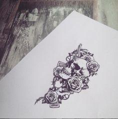 guns and roses tattoo bunette
