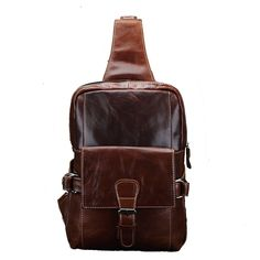 Bonvince Genuine Leather Bag Cross Body Chest Sling Pack Bag Shoulder Bag *** Want additional info? Click on the image.