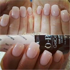 Remplissage gel + gelcolor by O.P.I bubble bath by opi Nude, nude nail, love