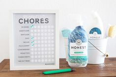 Get the kids cleaning with our free printable chore chart! It's fully customizable and perfect for the whole family. Free Printable Chore Charts, Chore Chart Kids, Free Printables, Clean All The Things, Safe Cleaning Products, Cleaning Kit, Internet Time, Charts For Kids, Organized Mom