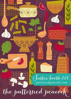 The Patterned Peacock–booth 228 #surtex