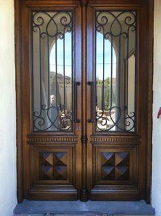 Lite Arch Top Double Door Mediterranean Front Doors