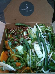 Butternut squash and qunioa salad from http://www.thenaturalkitchen.com in Marylebone, London.