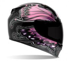 Bell Vortex Monarch Full Face Motorcycle Helmet - Black/P. Pink Motorcycle, Full Face Motorcycle Helmets, Full Face Helmets, Motorcycle Style, Motorcycle Gear, Motorcycle Accessories, Bike Helmets, Women Motorcycle, Bell Helmet