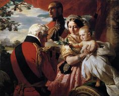 Queen Victoria, Prince Albert, the Duke of Wellington, and Prince Arthur. The First of May by Franz Xaver Winterhalter (1851).  Royal Collection, Windsor Castle.