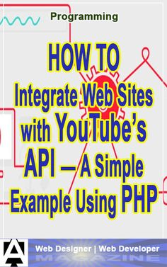 Looking to hook your PHP-based web site into your Youtube channel? It can be done via their API, and it's pretty straightforward. Here's an article with some sample code. #programming #webdevelopment #php #api #howto Web Design Quotes, Web Design Tips, Web Design Services, Online Web Design, Youtube S, Php, Business Marketing, Integrity, Web Development