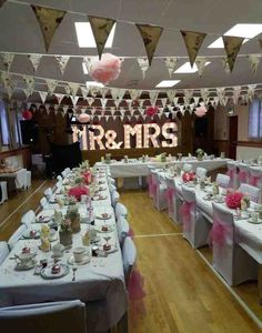 Littlebeck Village Hall Decorated For Our Vintage Afternoon Tea Reception