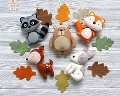 Woodland nursery decor Felt woodland animals Forest animals Baby room decor Christmas decoration Felt animals ornaments Baby mobile - Happy Christmas - Noel 2020 ideas-Happy New Year-Christmas Baby Mobile Felt, Felt Baby, Owl Felt, Forest Animals, Woodland Animals, Woodland Forest, Forest Decor, Woodland Nursery Decor, Forest Nursery