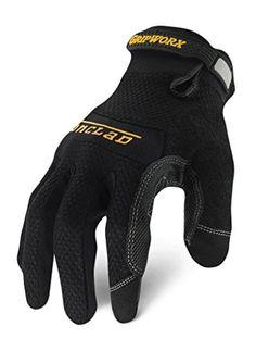 Ironclad BGW-05-XL Gripworx Series Gloves, Black, Extra Large