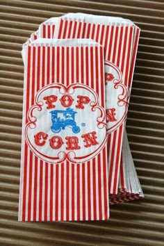 Vintage Style Wagon Popcorn Bags