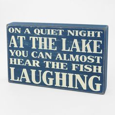 Wall Art | Typography Box Sign On A Quiet Night At The Lake | Shopko.com