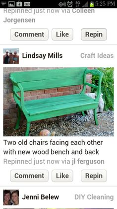 Old chairs=bench
