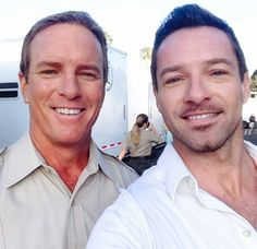 Linden Ashby and Ian Bohen on the set of Teen Wolf Season 4!