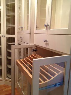 Master closet, pant storage. Love this!