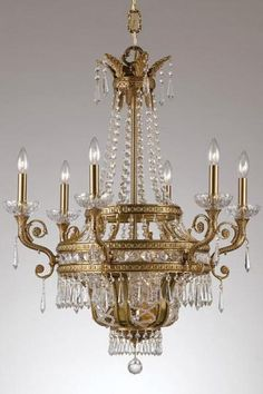 paris flea nine light crystal chandelier homedecorators