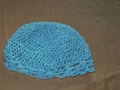 Baby Hat With Scalloped Edging Blue Color by amydscrochet on Etsy, $9.00