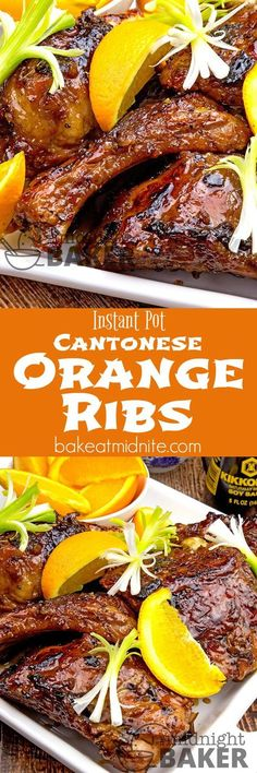 Delicious cantonese-style ribs with a hint of orange. Do them crock pot or Instant Pot paleo crockpot ribs Asian Pressure Cooker Recipes, Instant Pot Pressure Cooker, Slow Cooker Recipes, Cooking Recipes, Pressure Cooking, Crockpot Recipes, Cooking Ideas, Rib Recipes, Asian Recipes