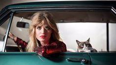Opel: Grumpy Cat modelt mit Georgia May Jagger - kurier.at