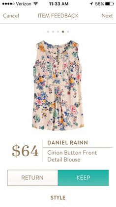 Daniel Rainn cirion blouse-love the details on this top, like the print too Stitch Fix Fall, Stitch Fit, Fasion, Fashion Outfits, Fashion Styles, Women's Fashion, Fashion Trends, Stitch Fix Outfits, Stitch Fix Stylist