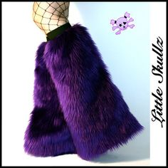 Purple Furry Boot Covers Raver Fuzzies Fluffy Leg Warmers. $29.95, via Etsy.