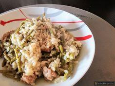 Risotto con asparagi e salsiccia