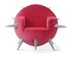 Unique and soft chairs are round and spiny   homecreat.com