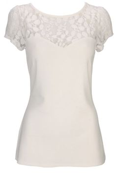 Ivory Lace Mesh Top