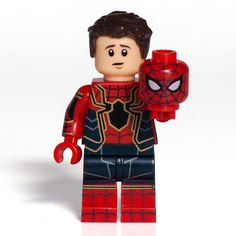Custom Lego Bricks Infinity War Spider-Man Iron Spider Peter Parker Minifigure | eBay Lego Spiderman, Lego Dc, Lego Custom Minifigures, Lego Minifigs, Lego Ninjago, Lego Disney, Iron Man Cartoon, Lego Zombies, Pop Marvel