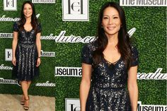 Lucy Liu con outfit scintillante ai Couture Council Award