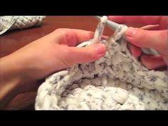 Video - tutorial: Cesta de trapillo redonda y con asas.