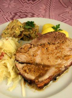 """ - an Austrian Schweinsbraten 101 Bavarian Recipes, Austrian Recipes, Dutch Recipes, Hungarian Recipes, Great Recipes, Pork And Beef Recipe, Pork Recipes, Cooking Recipes, Austrian Cuisine"