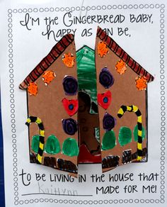 Gingerbread house to go with book, Gingerbread baby