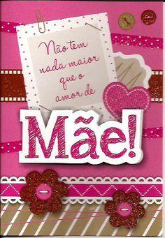 Cartão para Dia das Mães E Frame, Mother And Father, Fathers Day, Disney, Banner, Scrapbook, Christmas Ornaments, Holiday Decor, Psalms