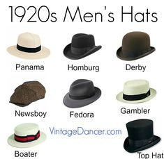 Buy new 1920s style men s hats such as the straw boater 8a4e593ddca5