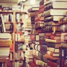 Stacks of books.