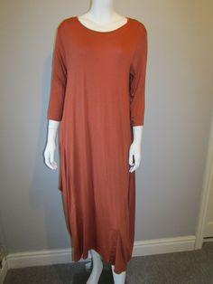 Lagenlook dress orange 753