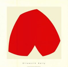 size: Serigraph: Red White, by Ellsworth Kelly : This gallery-quality art print was created using serigraphy, also known as silk screening, which produces a bold and vibrant paint-like layer of ink. Ellsworth Kelly, Hard Edge Painting, Painting & Drawing, Painting Styles, Framed Artwork, Framed Prints, Art Prints, Wall Art, Framed Canvas