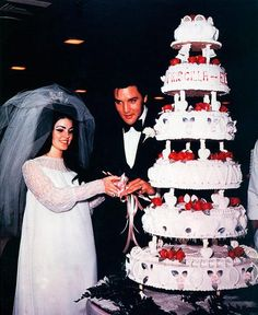 Elvis & Priscilla On Their Wedding Day May 1st (1967)