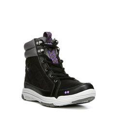 Ryka Women's Aurora Medium/Wide Sneaker Boots (Black/Grey/Lilac)